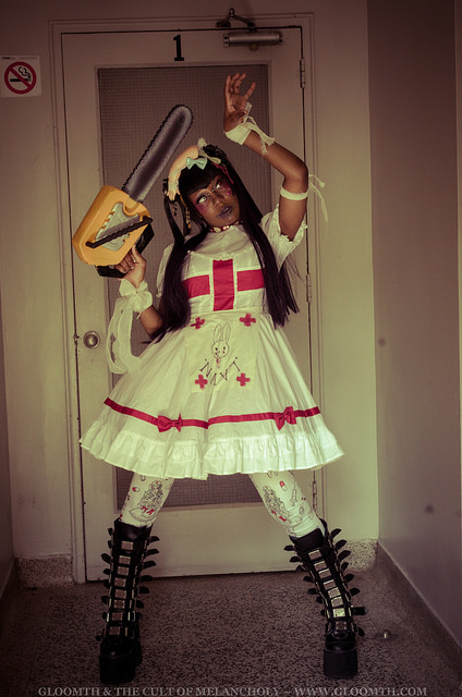 chainsaw nurse medical costume gloomth