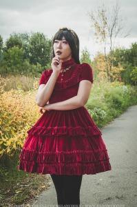 draculas bride gothic red velvet lolita dress gloomth