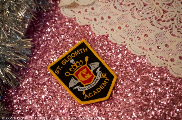 st gloomth academy embroidered patch