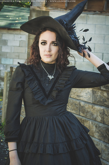gothic witch outfit gloomth victoria dress saint alkaline