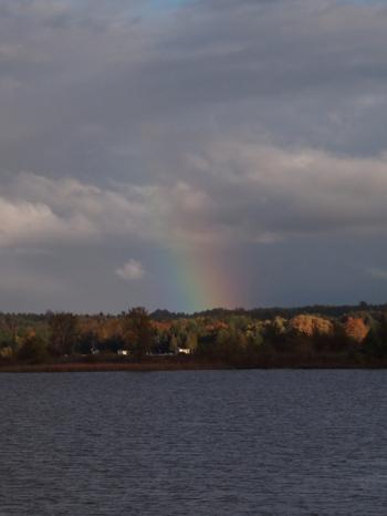 rainbow in north ontario