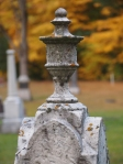 victorian tombstone with urn