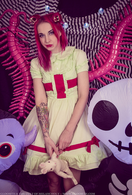 monster girl outfit photoshoot gloomth toronto