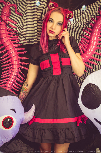 kawaii goth monster girl fashion and makeup