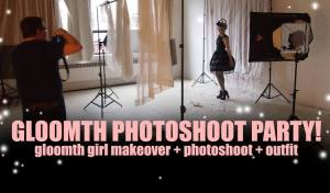 gloomth photoshoot party event makeover lolita shoot