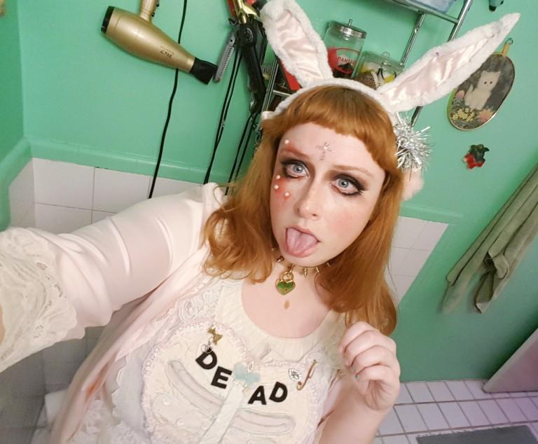 dead bunny costume gloomth taeden hall