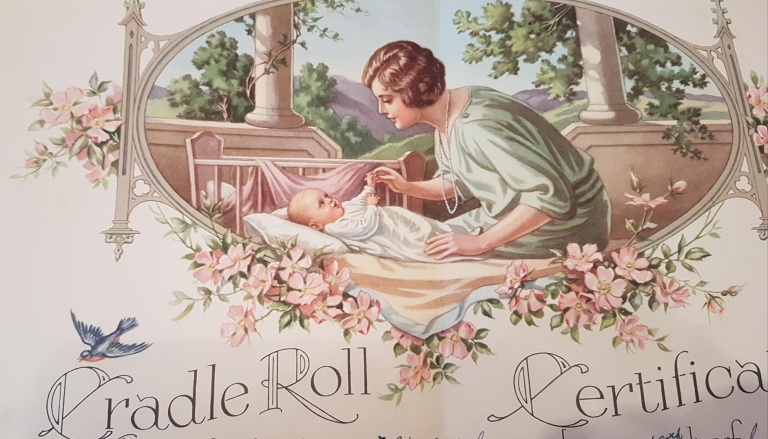cradle roll 1940s church canada