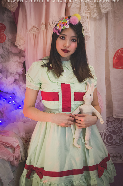 mint green lolita nurse dress gloomth