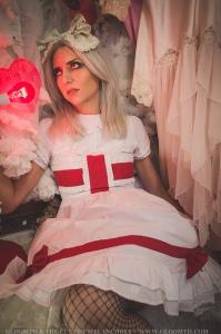 valentine photoshoot editorial lolita grunge fashion gloomth