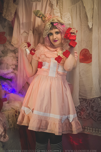 valentine themed lolita outfit gloomth