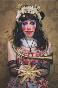 antique clown makeup halloween clown print dress