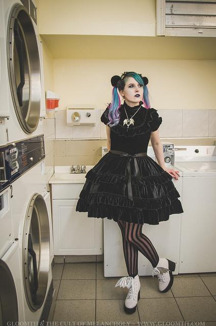 black velvet gothic lolita prom dress gloomth