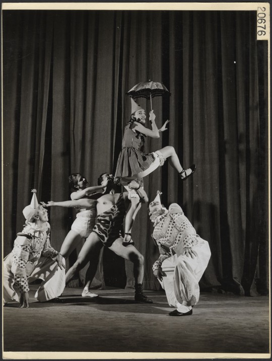 boris volkoff 1946 big top ballet clown dancer canada