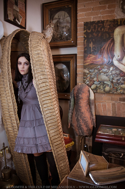 wicker coffin gothic model cabinet of curiosities dundas ontario gloomth