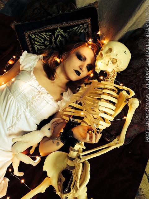 skeleton editorial halloween toronto fashion designer gloomth