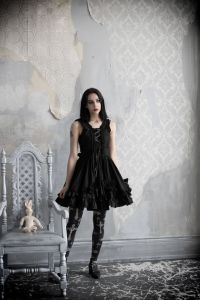 gothic crucifix leggings and dress by gloomth 2