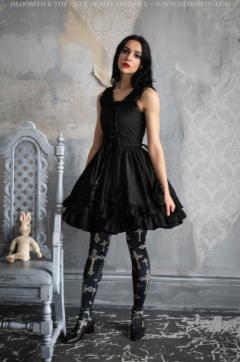 gothic crucifix print tights or leggings by gloomth (1)