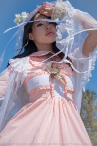 angelcore fashion with pale layers and pink nurse dress by gloomth