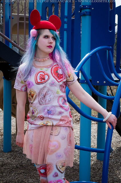 valentine print tshirt and leggings by gloomth mouseketeer japanese street fashion toronto (8)