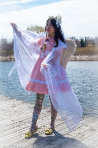 angel print tights cherub outfit festival