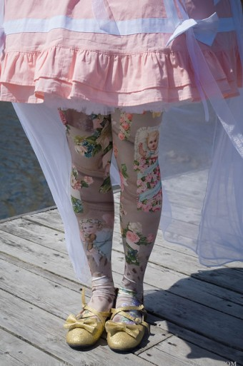 angel print tights cherub