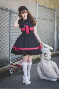 goth nurse dress lolita outfit (3)