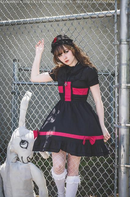 goth nurse dress lolita outfit