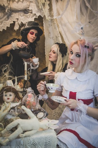 gothic alice in wonderland editorial