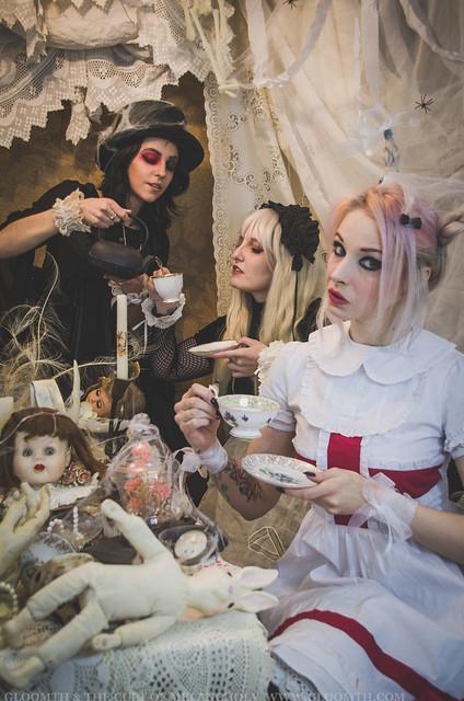 gothic alice in wonderland editorial