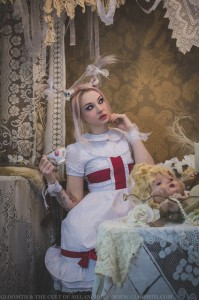 gothic alice in wonderland white rabbit