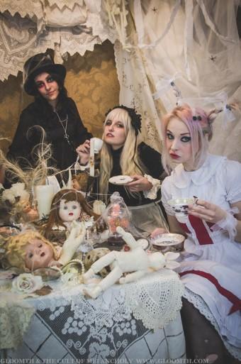 gothic alice wonderland tea party