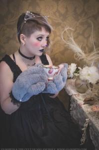 gothic cheshire cat wonderland outfit