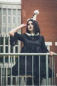 gothic clown pierrot