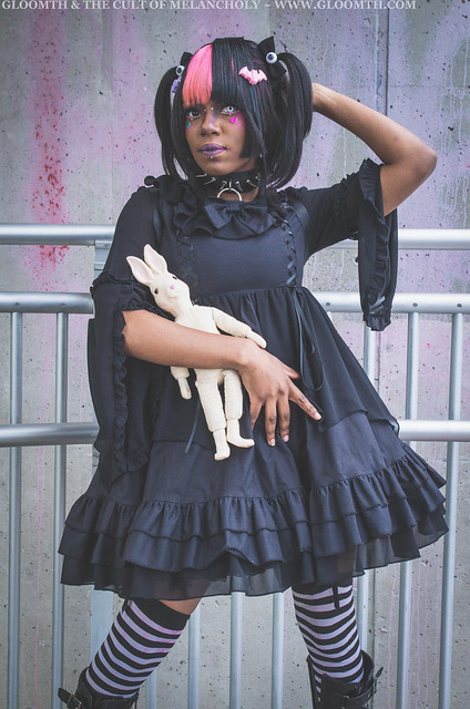 gothic lolita bat wing dress