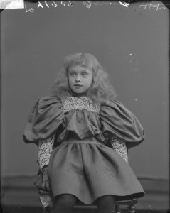 victorian child with enormous sleeves