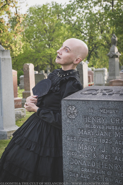 gothic woman in graveyard