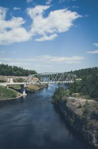 bridge over french river ontario canada
