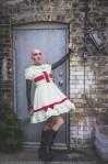 bald gothic woman