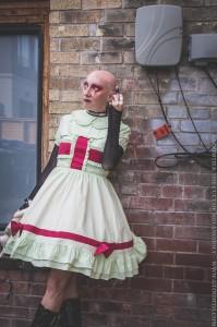 creepy nurse photoshoot