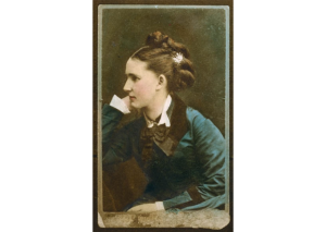 hand tinted victorian photo