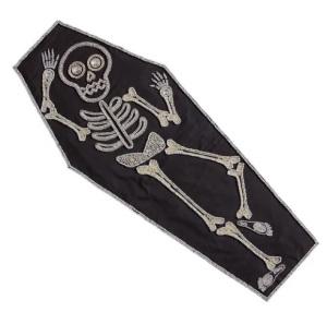 beaded skeleton table runner goth home decor