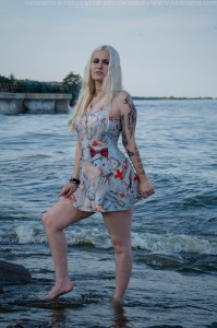 goth swim dress