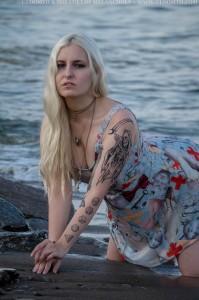 gothic swim dress