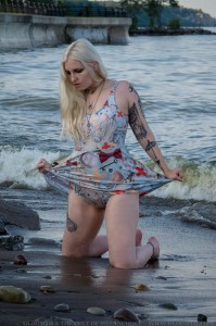 gothic swimdress