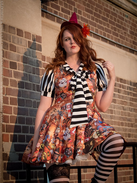 halloween print fabric dress plus size