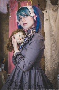victorian doll outfit with doll head