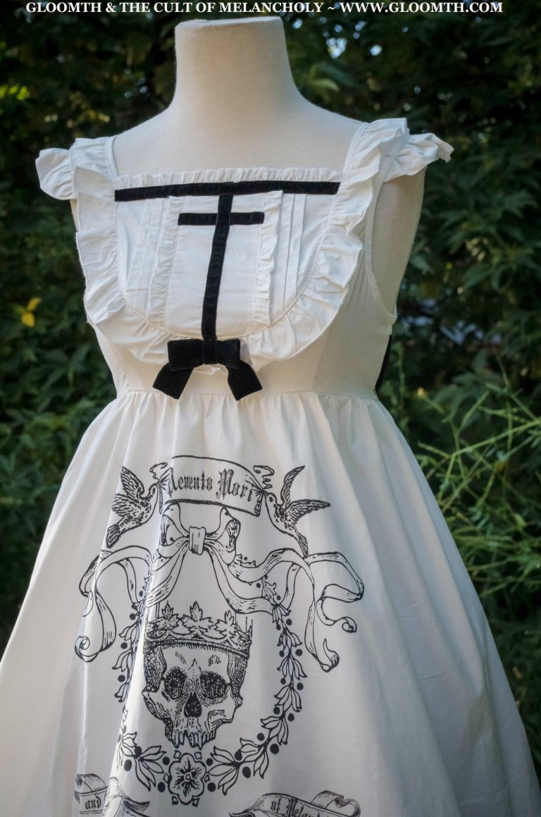 white gothic lolita mourning dress