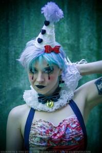 gothic clown makeup