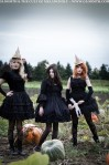 gothic pumpkin patch photoshoot