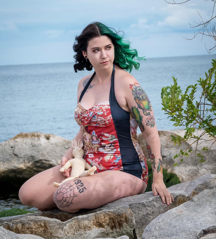 gothic swimwear in plus sizes